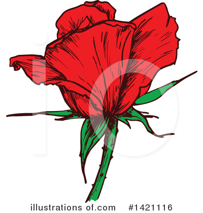 Rose Clipart #1421116 by Vector Tradition SM
