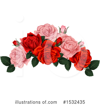 Rose Clipart #1532435 by Vector Tradition SM
