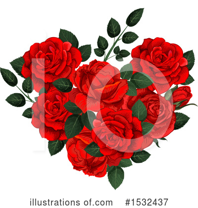 Royalty-Free (RF) Rose Clipart Illustration by Vector Tradition SM - Stock Sample #1532437