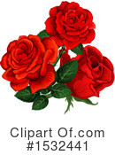Rose Clipart #1532441 by Vector Tradition SM
