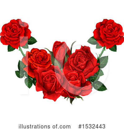 Rose Clipart #1532443 by Vector Tradition SM