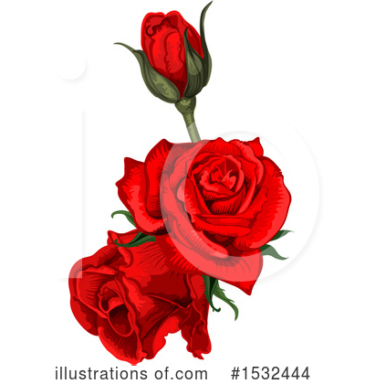 Rose Clipart #1532444 by Vector Tradition SM