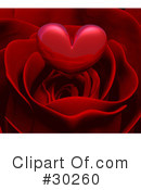 Royalty-Free (RF) Rose Clipart Illustration #30260