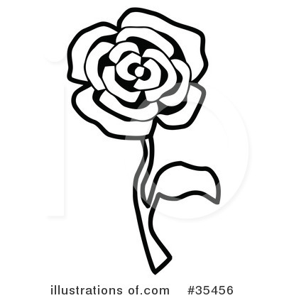 Royalty-Free (RF) Rose Clipart Illustration by C Charley-Franzwa - Stock Sample #35456