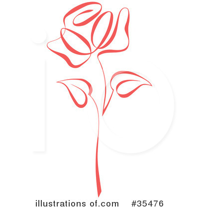 Royalty-Free (RF) Rose Clipart Illustration by C Charley-Franzwa - Stock Sample #35476