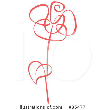 Royalty-Free (RF) Rose Clipart Illustration by C Charley-Franzwa - Stock Sample #35477