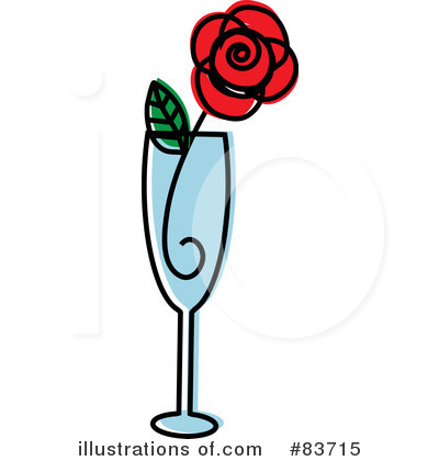 Royalty-Free (RF) Rose Clipart Illustration by Rosie Piter - Stock Sample #83715