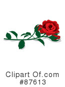 Royalty-Free (RF) Rose Clipart Illustration #87613
