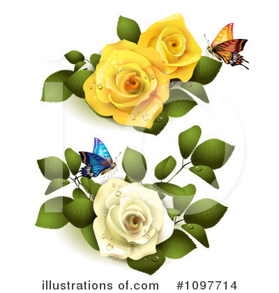 Royalty-Free (RF) Roses Clipart Illustration by merlinul - Stock Sample #1097714