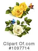 Royalty-Free (RF) Roses Clipart Illustration #1097714