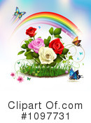 Royalty-Free (RF) Roses Clipart Illustration #1097731