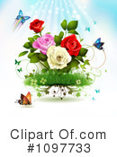 Royalty-Free (RF) Roses Clipart Illustration #1097733
