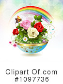 Royalty-Free (RF) Roses Clipart Illustration #1097736