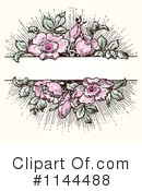 Royalty-Free (RF) Roses Clipart Illustration #1144488