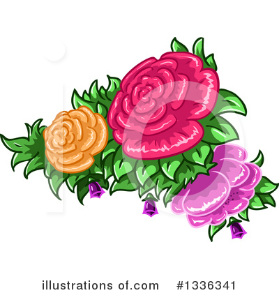 Roses Clipart #1336341 by Liron Peer