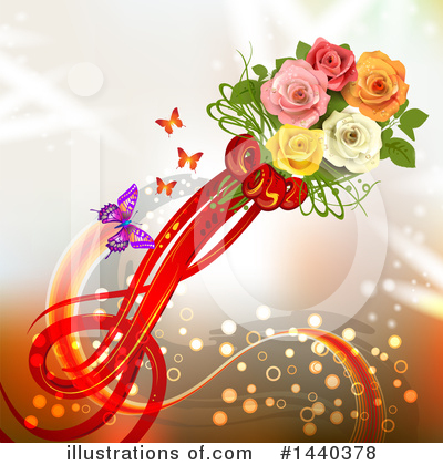 Royalty-Free (RF) Roses Clipart Illustration by merlinul - Stock Sample #1440378