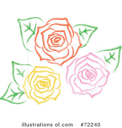 Royalty-Free (RF) Roses Clipart Illustration by Rosie Piter - Stock Sample #72240
