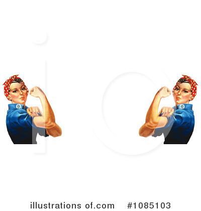 Rosie The Riveter Clipart #1085103 by JVPD