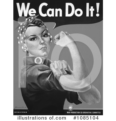 Rosie The Riveter Clipart #1085104 by JVPD