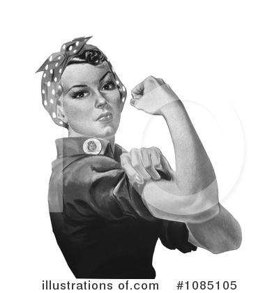 Rosie The Riveter Clipart #1085105 by JVPD