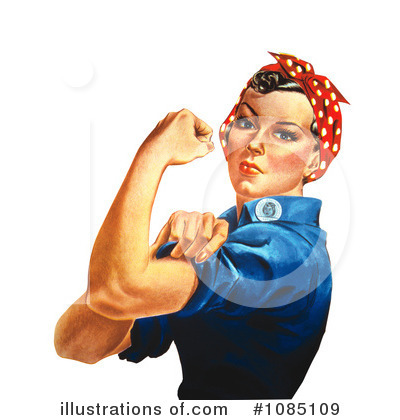 Rosie The Riveter Clipart #1085109 by JVPD