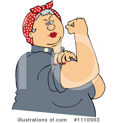 Rosie The Riveter Clipart #1110903 by djart