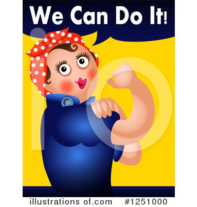 Royalty-Free (RF) Rosie The Riveter Clipart Illustration by Prawny - Stock Sample #1251000