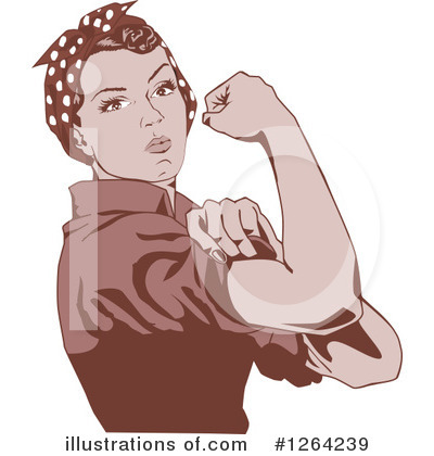Rosie The Riveter Clipart #1264239 by Dennis Holmes Designs