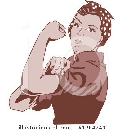 Rosie The Riveter Clipart #1264240 by Dennis Holmes Designs