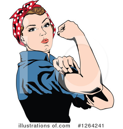 Rosie The Riveter Clipart #1264241 by Dennis Holmes Designs