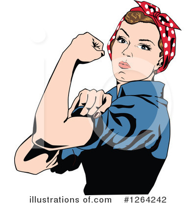 Rosie The Riveter Clipart #1264242 by Dennis Holmes Designs