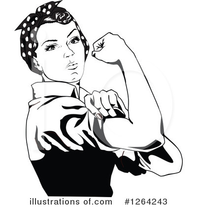 Royalty-Free (RF) Rosie The Riveter Clipart Illustration by Dennis Holmes Designs - Stock Sample #1264243