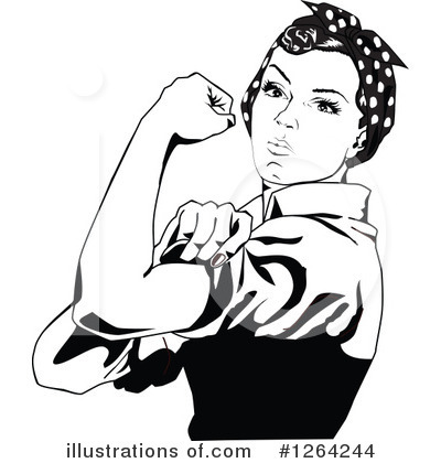 Rosie The Riveter Clipart #1264244 by Dennis Holmes Designs
