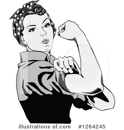 Rosie The Riveter Clipart #1264245 by Dennis Holmes Designs