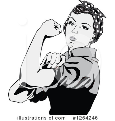 Royalty-Free (RF) Rosie The Riveter Clipart Illustration by Dennis Holmes Designs - Stock Sample #1264246