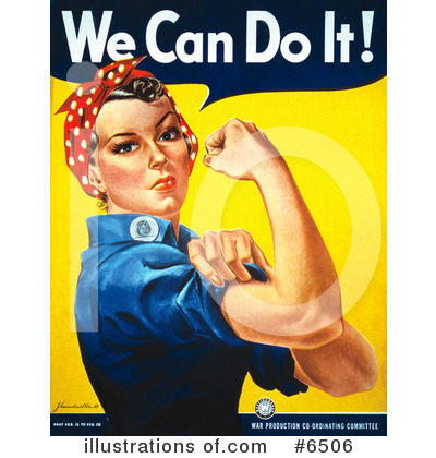 Rosie The Riveter Clipart #6506 by JVPD