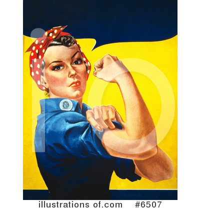 Rosie The Riveter Clipart #6507 by JVPD