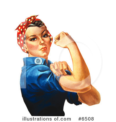 Rosie The Riveter Clipart #6508 by JVPD