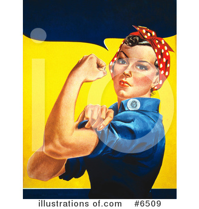 Royalty-Free (RF) Rosie The Riveter Clipart Illustration by JVPD - Stock Sample #6509