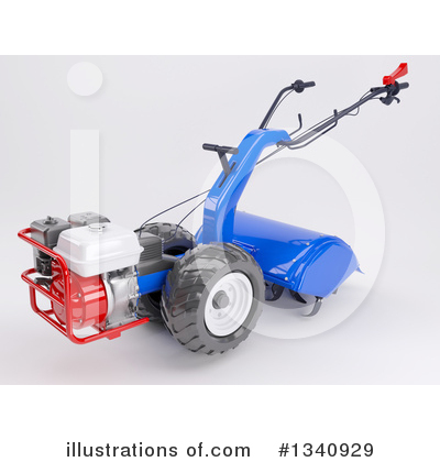 Royalty-Free (RF) Rototiller Clipart Illustration by KJ Pargeter - Stock Sample #1340929
