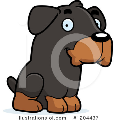 Dog Clipart #1204437 by Cory Thoman