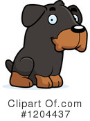 Rottweiler Clipart #1204437 by Cory Thoman