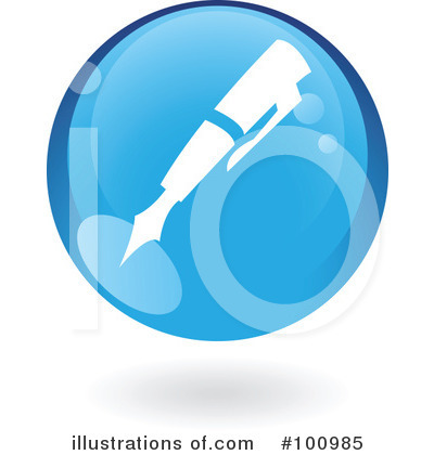 Round Blue Icon Clipart #100985 by cidepix