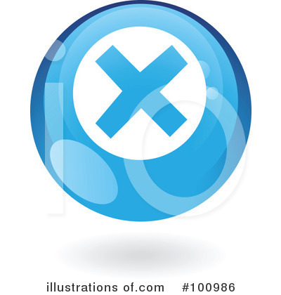 Round Blue Icon Clipart #100986 by cidepix