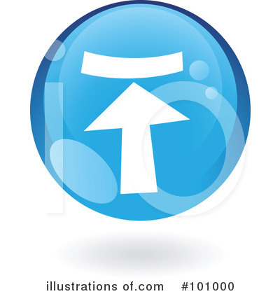 Royalty-Free (RF) Round Blue Icon Clipart Illustration by cidepix - Stock Sample #101000