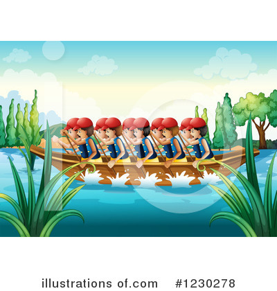 Royalty-Free (RF) Rowing Team Clipart Illustration by colematt - Stock ...