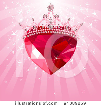 Royalty-Free (RF) Ruby Heart Clipart Illustration by Pushkin - Stock Sample #1089259
