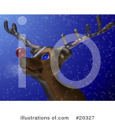 Royalty-Free (RF) Rudolph Clipart Illustration by Tonis Pan - Stock Sample #20327