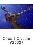 Royalty-Free (RF) Rudolph Clipart Illustration #20327