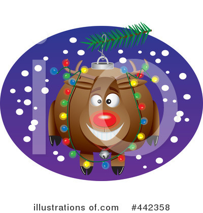 Reindeer Clipart #442358 by toonaday